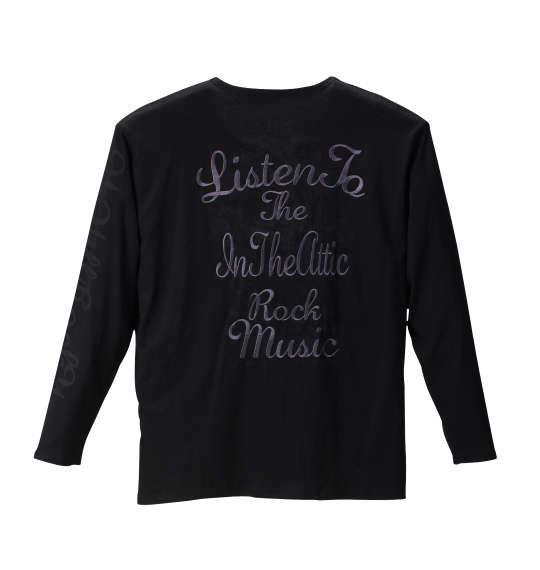 大きいサイズ メンズ in the attic 長袖 Tシャツ 長袖Tシャツ ブラック 1158-6380-2 3L 4L 5L 6L