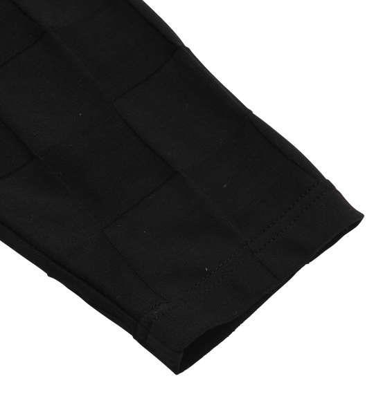 大きいサイズ メンズ Beno ブロック ジャガード 長袖 Vネック Tシャツ 長袖Tシャツ ブラック 1158-6390-2 3L 4L 5L 6L 8L