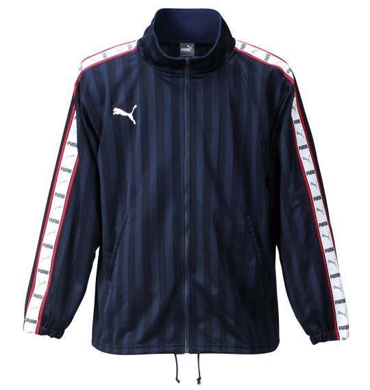 大きいサイズ メンズ PUMA トレーニングジャケット アウター ジャケット スポーツ ネイビー × ホワイト 1176-5300-4 4XO 5XO 6XO 7XO
