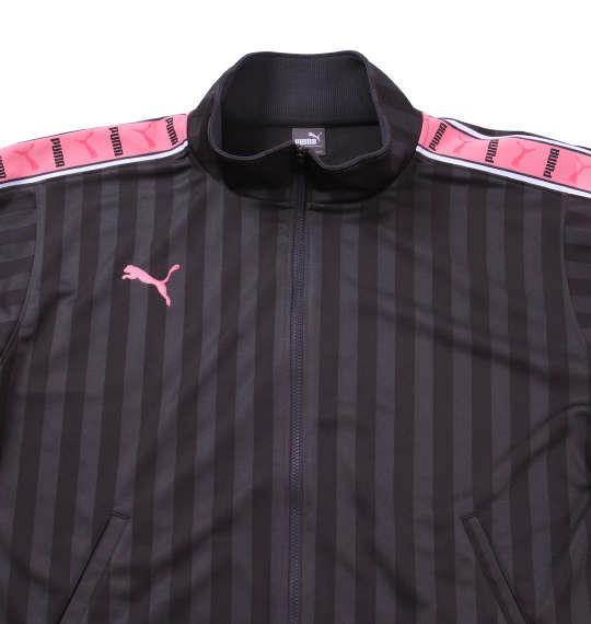 大きいサイズ メンズ PUMA トレーニングジャケット アウター ジャケット スポーツ チャコール × ピンク 1176-5300-5 4XO 5XO 6XO 7XO