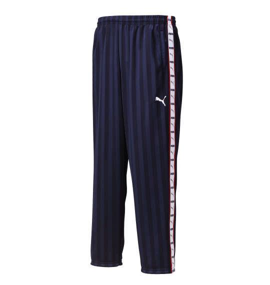 大きいサイズ メンズ PUMA トレーニングパンツ ボトムス ズボン パンツ スポーツ ネイビー × ホワイト 1176-5301-4 4XO 5XO 6XO 7XO