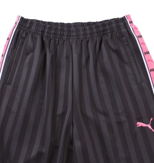 大きいサイズ メンズ PUMA トレーニングパンツ ボトムス ズボン パンツ スポーツ チャコール × ピンク 1176-5301-5 4XO 5XO 6XO 7XO