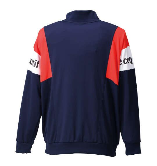 大きいサイズ メンズ LE COQ SPORTIF ウォームアップジャケット アウアー ジャンパー ジャケット ネイビー 1176-6302-1 3L 4L 5L 6L