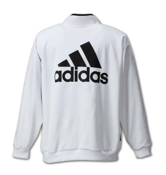 大きいサイズ メンズ adidas ウォームアップジャケット アウアー ジャンパー ジャケット ホワイト 1176-6360-1 3XO 4XO 5XO 6XO 7XO 8XO