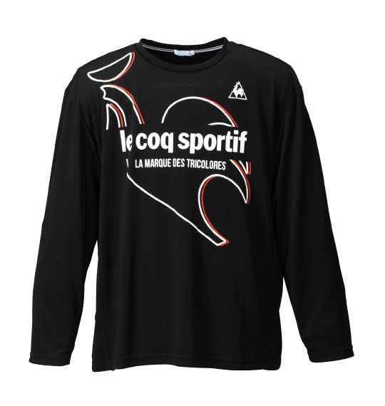 大きいサイズ メンズ LE COQ SPORTIF 長袖Tシャツ ブラック 1178-6350-2 3L 4L 5L 6L