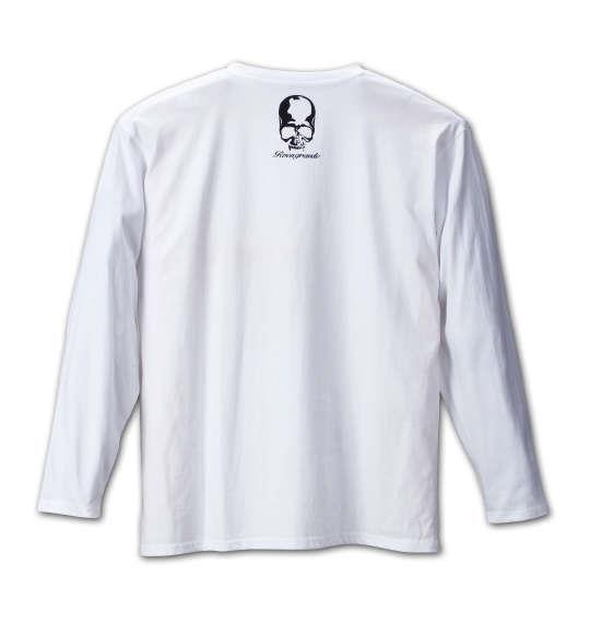 大きいサイズ メンズ Roen grande カモフラスカル長袖Tシャツ ホワイト 1178-6390-1 3L 4L 5L 6L