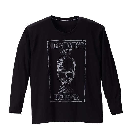 大きいサイズ メンズ Roen grande カモフラスカル長袖Tシャツ ブラック 1178-6390-2 3L 4L 5L 6L