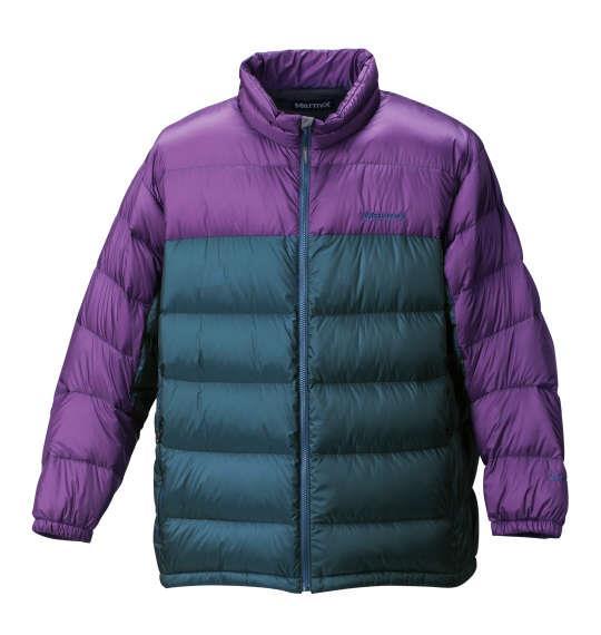 大きいサイズ メンズ Marmot ダウンジャケット 長袖 アウター ジャケット ペトロールグリーン × ビバパープル 1173-6300-3 3L 4L 5L 6L