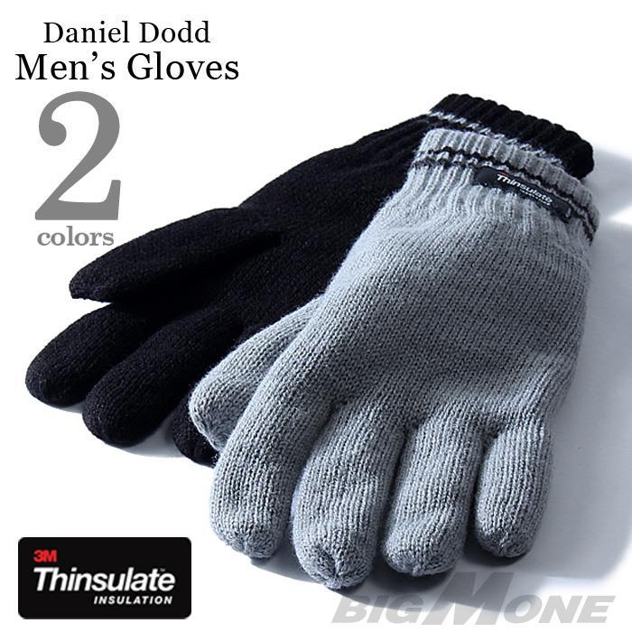 大きいサイズ メンズ DANIEL DODD Thinsulate ライン入り グローブ 手袋 azgl-16dd02