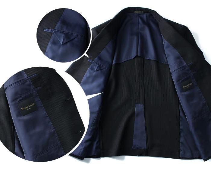 大きいサイズ メンズ DANIEL DODD 快適 フィット 2WAY ストレッチ 2ツ釦スーツ ウエスト アジャスター付 スーツ ビジネススーツ リクルートスーツ z621-0412