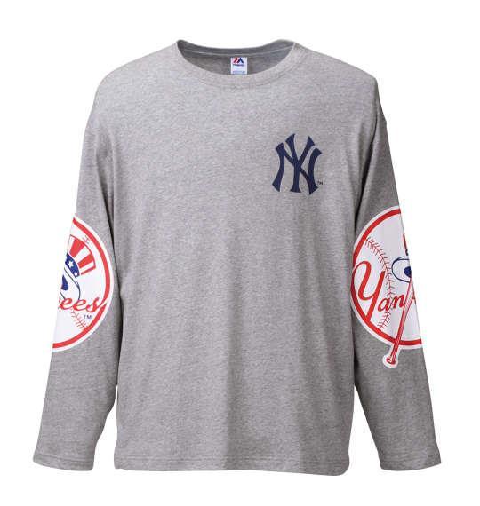 大きいサイズ メンズ Majestic 長袖Tシャツ モクグレー 1178-6365-1 3L 4L 5L 6L