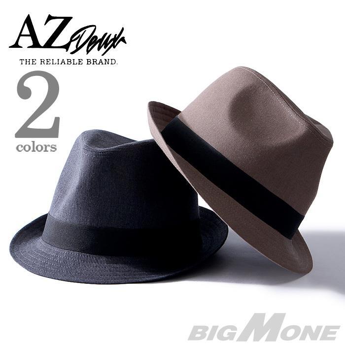 大きいサイズ メンズ AZ DEUX ベーシック中折れハット 帽子 714-179001
