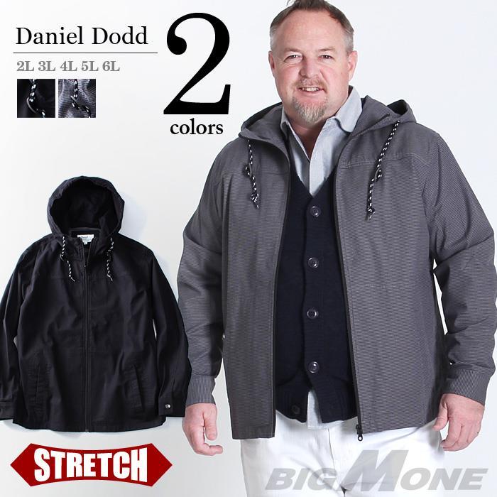 大きいサイズ メンズ DANIEL DODD ストレッチ フーデッドブルゾン azb-1341