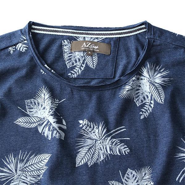 大きいサイズ メンズ AZ DEUX 半袖 Tシャツ 総柄 プリント 半袖Tシャツ azt-170214
