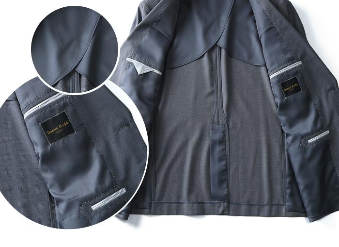大きいサイズ メンズ DANIEL DODD TR アジャスター付 シングル 2ツ釦スーツ ビジネススーツ スーツ リクルートスーツ azsu2p1706