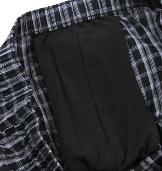 大きいサイズ メンズ bluff 内側 サポーター付 トランクス 下着 肌着 インナー 前開き トランクス パンツ ブラック系 1149-7210-2 3L 4L 5L 6L 7L 8L