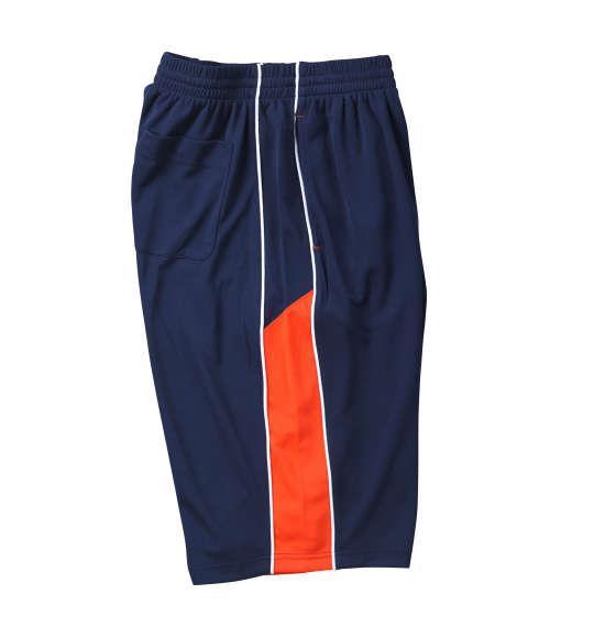 大きいサイズ メンズ Mc.S.P 吸汗速乾 半袖Tシャツ + ハーフパンツ 上下セット セットアップ 半袖 Tシャツ パンツ 短パン ボトムス ズボン ネイビー × オレンジ 1156-7210-1 3L 4L 5L 6L 8L