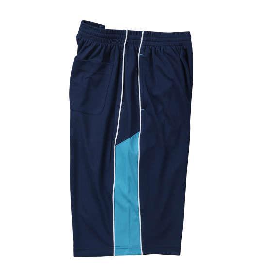 大きいサイズ メンズ Mc.S.P 吸汗速乾 半袖Tシャツ + ハーフパンツ 上下セット セットアップ 半袖 Tシャツ パンツ 短パン ボトムス ズボン ネイビー × サックス 1156-7210-2 3L 4L 5L 6L 8L