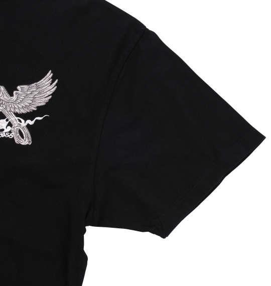 大きいサイズ メンズ FLAGSTAFF 半袖 Tシャツ 半袖Tシャツ ブラック 1158-7255-1 3L 4L 5L 6L