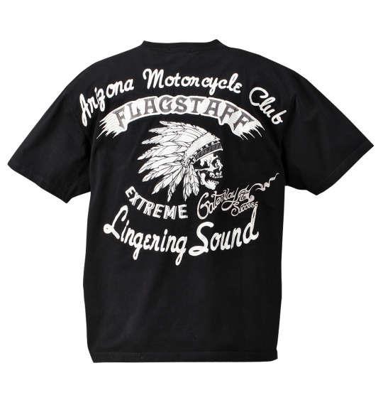 大きいサイズ メンズ FLAGSTAFF 半袖 Tシャツ 半袖Tシャツ ブラック 1158-7256-1 3L 4L 5L 6L 8L