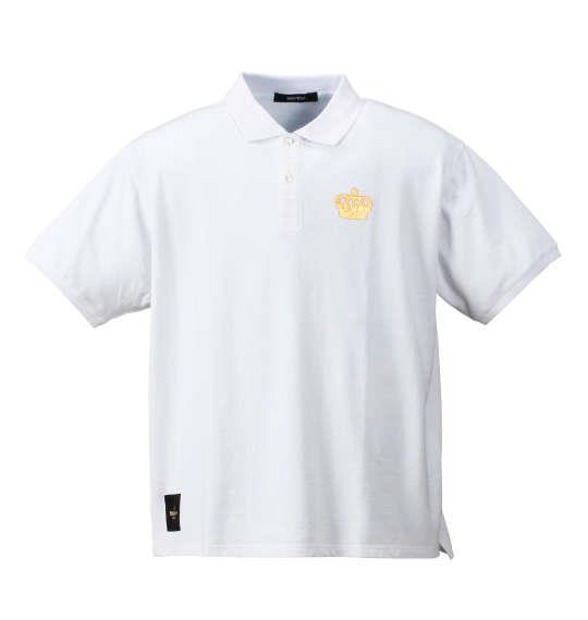 大きいサイズ メンズ SEVEN2 半袖 ポロシャツ ホワイト 1168-7242-1 3L 4L 5L 6L