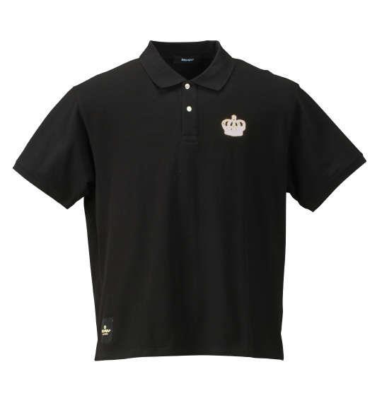 大きいサイズ メンズ SEVEN2 半袖 ポロシャツ ブラック 1168-7242-2 3L 4L 5L 6L