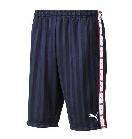 大きいサイズ メンズ PUMA トレーニング ハーフパンツ ボトムス ズボン パンツ 短パン ネイビー × ホワイト 1176-6210-4 4XO 5XO 6XO 7XO