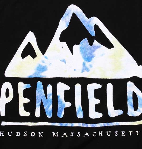 大きいサイズ メンズ Penfield タイダイロゴプリント半袖Tシャツ ブラック 1178-7241-2 3L 4L 5L 6L