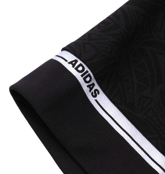 大きいサイズ メンズ adidas golf トライバル柄半袖ポロシャツ ブラック 1178-7250-2 4XO 5XO 6XO 7XO