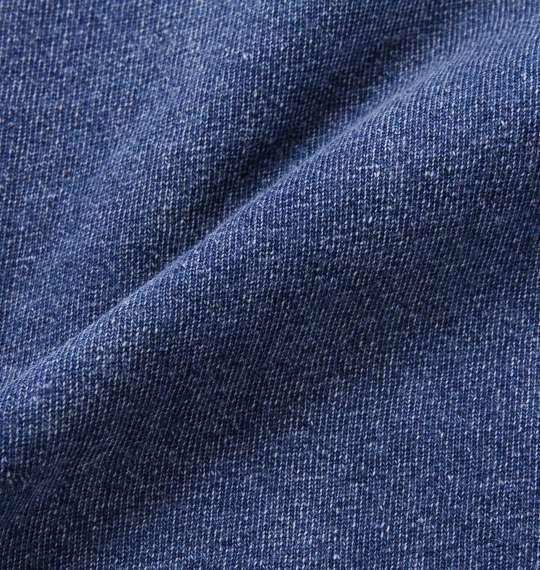 大きいサイズ メンズ in the attic インディゴ 天竺 半袖 パーカー フルジップパーカー ネイビー 1158-7287-1 3L 4L 5L 6L