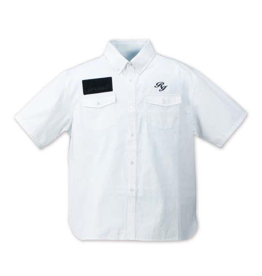 大きいサイズ メンズ Roen grande オックスフォードB.D半袖シャツ ホワイト 1177-7220-1 3L 4L 5L 6L