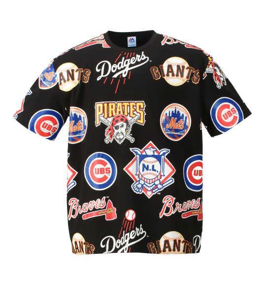 大きいサイズ メンズ Majestic 半袖Tシャツ ブラック 1178-7515-2 3L 4L 5L 6L
