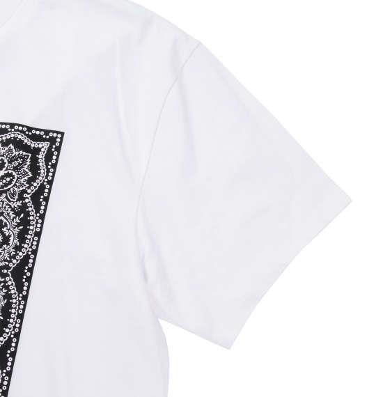 大きいサイズ メンズ Roen grande バンダナ柄ドクロ半袖Tシャツ ホワイト 1178-7535-1 3L 4L 5L 6L