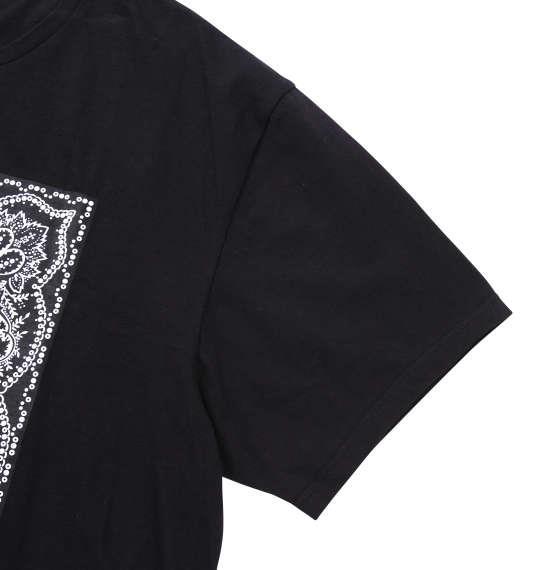 大きいサイズ メンズ Roen grande バンダナ柄ドクロ半袖Tシャツ ブラック 1178-7535-2 3L 4L 5L 6L