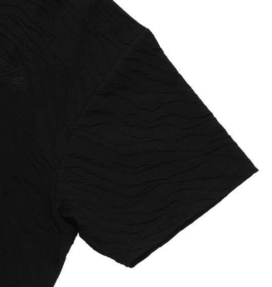 大きいサイズ メンズ Roen grande 斜め膨れジャガード半袖Tシャツ ブラック 1178-7536-2 3L 4L 5L 6L