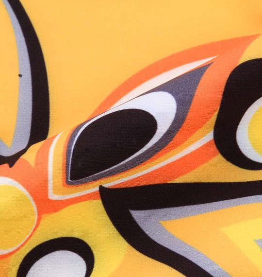 大きいサイズ メンズ LOUDMOUTH プリント ストレッチ パンツ  ボトムス ズボン シャガデリック イエロー 1174-7236-1 100 105 110 115 120