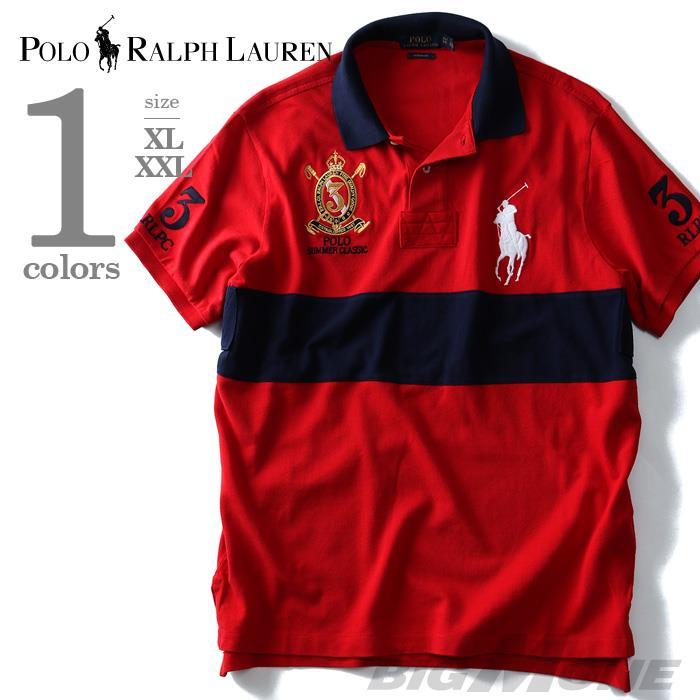 大きいサイズ メンズ POLO RALPH LAUREN ポロ ラルフローレン 半袖 ポロシャツ SUMMER CLASSIC USA レッド XL XXL 直輸入 710657283001