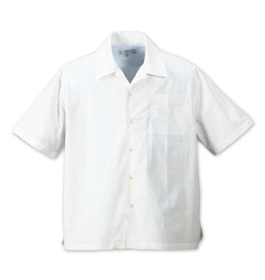 大きいサイズ メンズ Mc.S.P 半袖オープンカラーシャツ ホワイト 1177-7230-1 3L 4L 5L 6L 8L