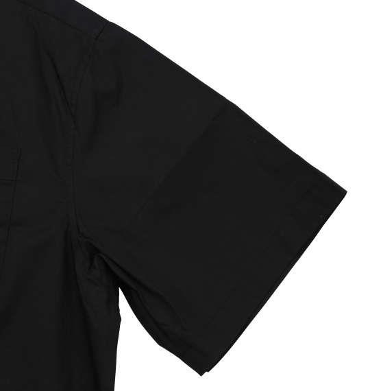 大きいサイズ メンズ Mc.S.P 半袖オープンカラーシャツ ブラック 1177-7230-2 3L 4L 5L 6L 8L