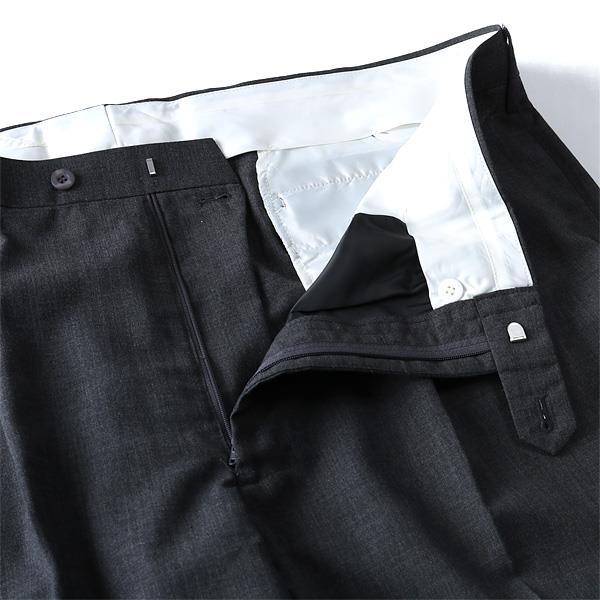大きいサイズ メンズ ウォッシャブル ループ付 ツータック スラックス ズボン ボトムス ビジネスパンツ 3614