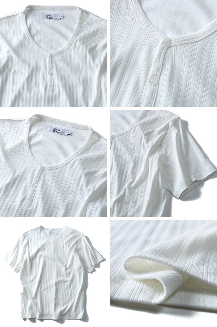 大きいサイズ メンズ DANIEL DODD 半袖 Tシャツ 針抜き Y ヘンリーネック 半袖Tシャツ azt-1702123