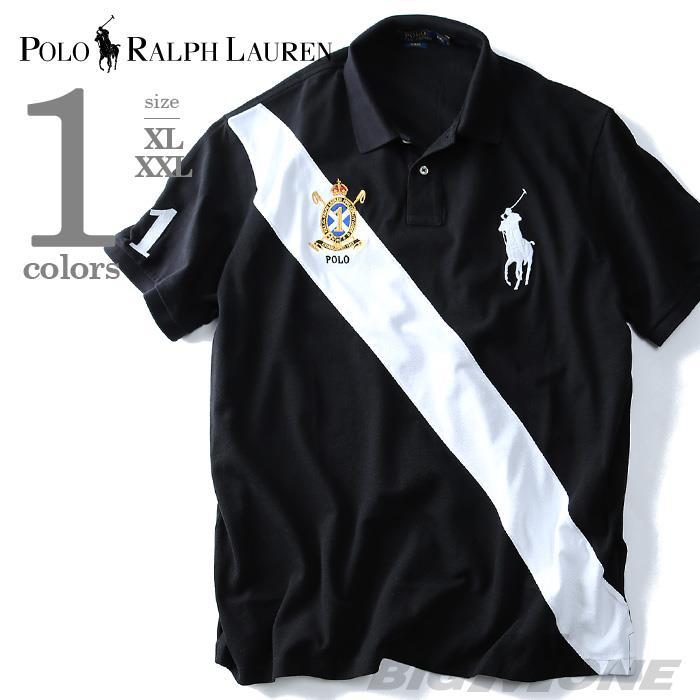 大きいサイズ メンズ POLO RALPH LAUREN (ポロ ラルフローレン) 半袖ビッグポニー鹿の子ポロシャツ SLIM FIT (1) USA直輸入 710-660911-00