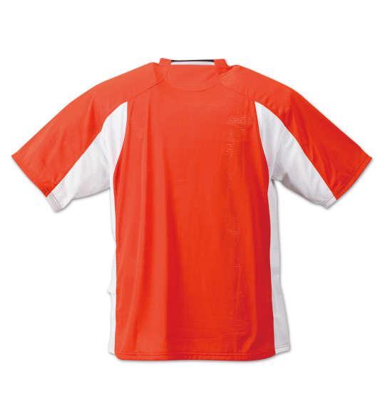 大きいサイズ メンズ DESCENTE ブリーズプラス半袖Tシャツ オレンジ 1178-7231-2 3L 4L 5L 6L