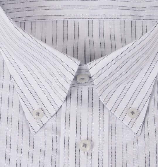 大きいサイズ メンズ HIROKO KOSHINO HOMME B.D半袖シャツ ホワイト × グレー 1177-7216-1 3L 4L 5L 6L 7L 8L 9L