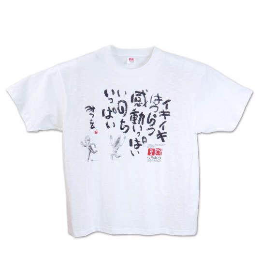 大きいサイズ メンズ ウルみつ 半袖Tシャツ オフホワイト 1178-7511-1 3L 4L 5L 6L 8L