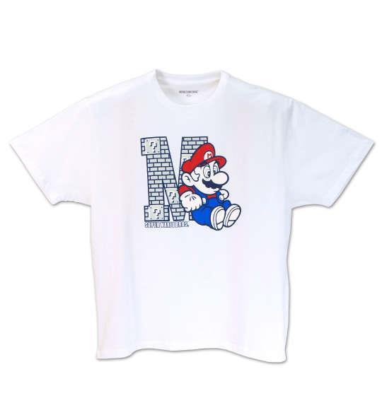 大きいサイズ メンズ SUPER MARIO BROS. 半袖Tシャツ ホワイト 1178-7526-1 3L 4L 5L 6L