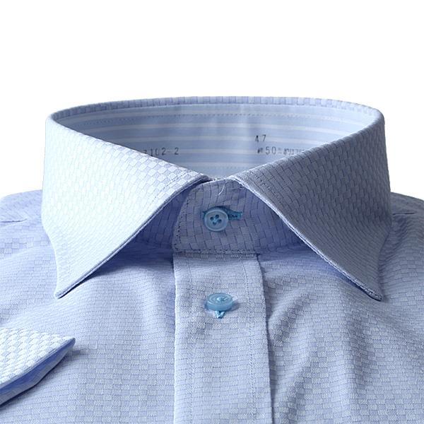 【pd0527】大きいサイズ メンズ DANIEL DODD 半袖 Yシャツ 半袖 ワイシャツ 吸汗速乾 形態安定 セミワイドシャツ d574az102