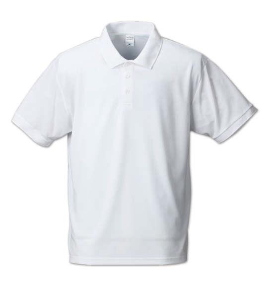 大きいサイズ メンズ Mc.S.P DRY ハニカム メッシュ 半袖 ポロシャツ ホワイト 1158-7555-1 3L 4L 5L 6L 8L 10L