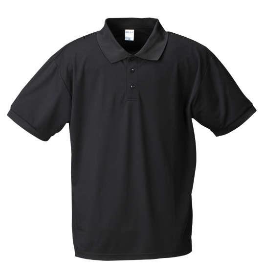 大きいサイズ メンズ Mc.S.P DRY ハニカム メッシュ 半袖 ポロシャツ ブラック 1158-7555-2 3L 4L 5L 6L 8L 10L