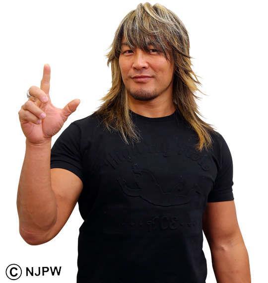 大きいサイズ メンズ 新日本プロレス 棚橋弘至「HIGH FLY FLOW」半袖Tシャツ ブラック 1178-7564-1 3L 4L 5L 6L 8L